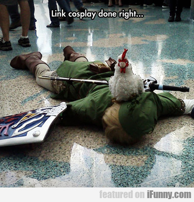 link cosplay done right...