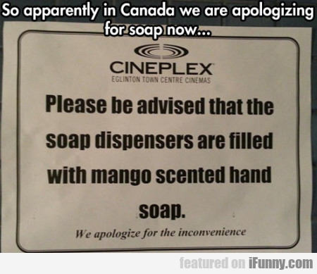 so apparently in Canada we are aopologizing