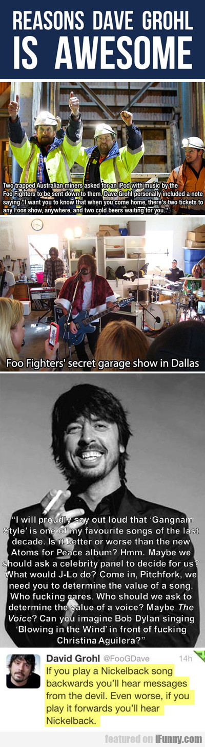Reasons Dave Grohl Is Awesome...