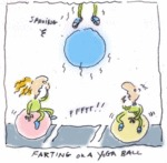 Sproing! Pfftt! Farting On A Yoga Ball