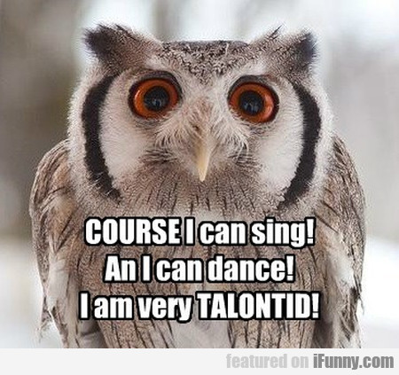 Course I Can Sing! An I Can Dance