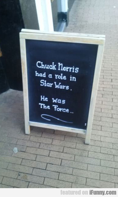Chuck Norris Had A Role In Star Wars...