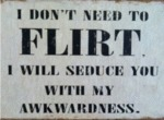 I Don't Need To Flirt I Will Seduce You