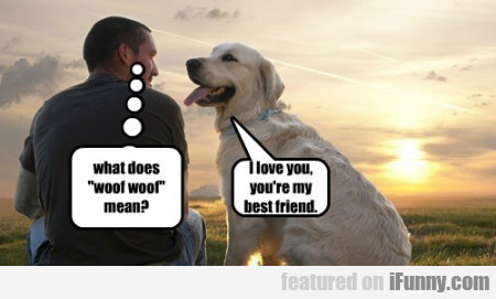 what does woof woof mean