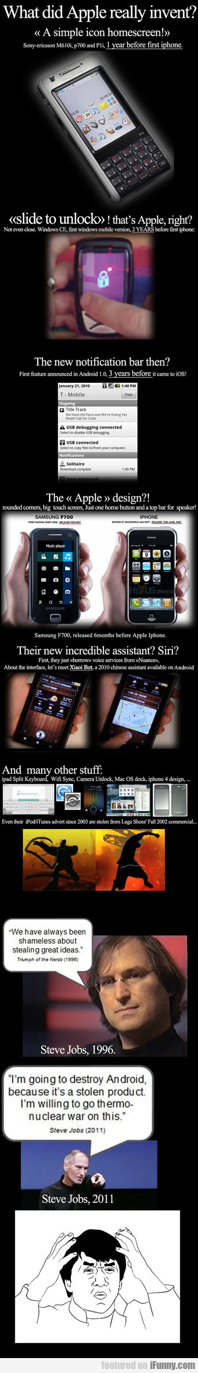 What Did Apple Really Invent...