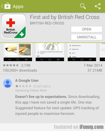 Apps - First aid by British Red Cross