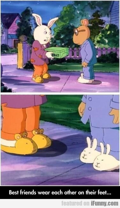 Best Friends Wear Each Other On Their Feet...