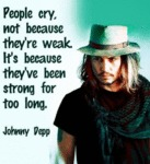 People Cry Not Because They're Weak...