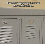 The 666 Locker Number Is...