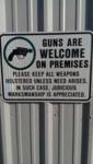 Guns Are Welcome Or Premises