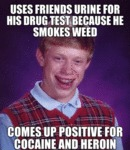 Uses Friend's Urine For His Drug Test...