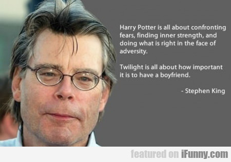 harry potter is all about confronting fears...