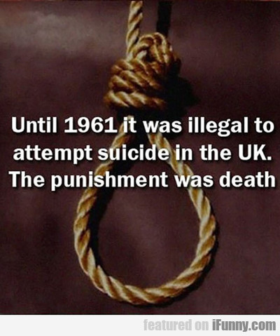 Until 1961 It Was Illegal...