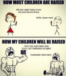 How Most Children Are Raised - Eat Your Vege's..
