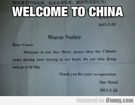 Dear Guest, Welcome To Our Star Hotel, Please...