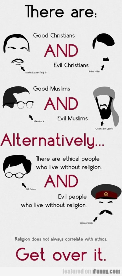There Are Good Christians And Evil Christians...
