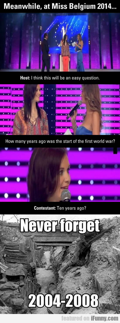 meanwhile, at miss belgium 2014...