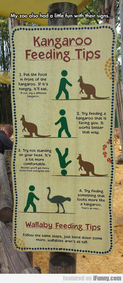 My Zoo Also Had A Little Fun With Their Signs...