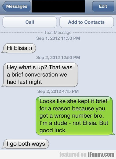 Hi Elisia Hey What's Up That Was A Brief...
