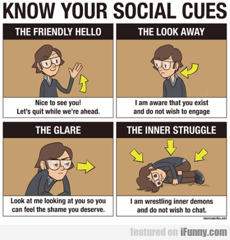 Know your social cues - The friendly hello