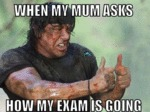 When My Mum Asks Me How My Exam Is Going...