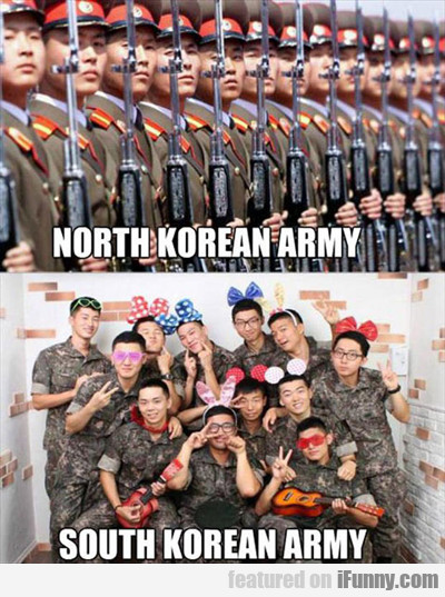 North Korean Army Vs South Korean Army...