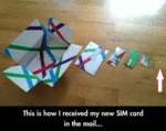 This Is How I Received My New Sim Card...