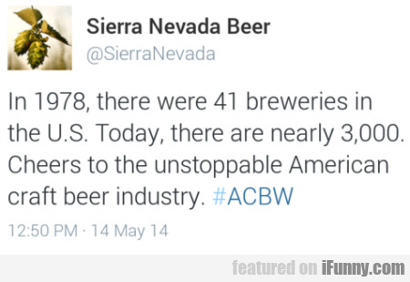 In 1978, There Were 41 Breweries In The U.s.