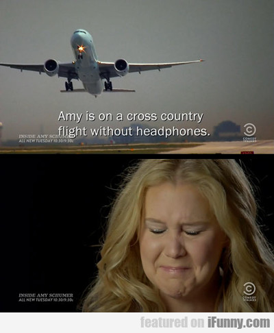 Amy Is On A Cross Country Flight...
