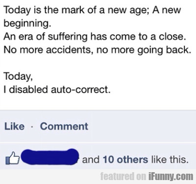 Today is the mark of a new age. A new...