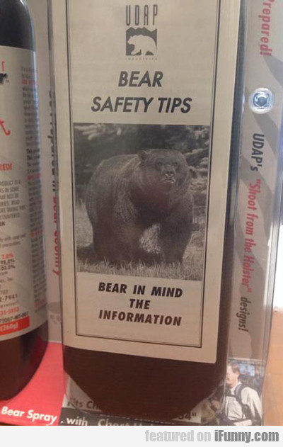 Bear Safety Tips, Bear In Mind The Information...