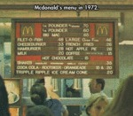Mcdonald's Menu In 1972...