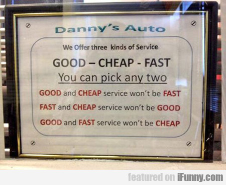 We Offer Three Kinds Of Service...