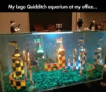 My Lego Quidditch Aquarium At My Office...