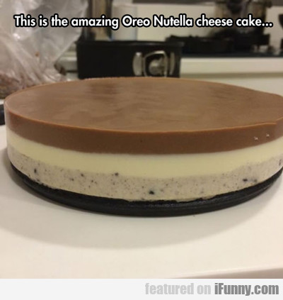 This Is The Amazing Oreo Nutella Cheescake...
