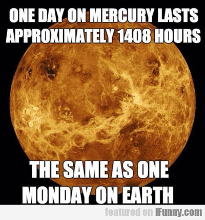One Day On Mercury Lasts Approximately
