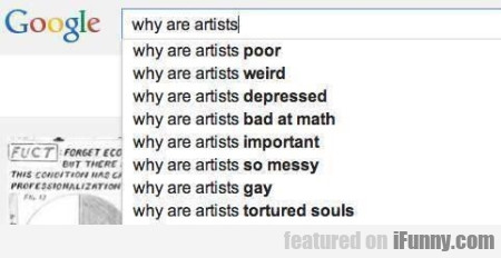 Why Are Artists Poor