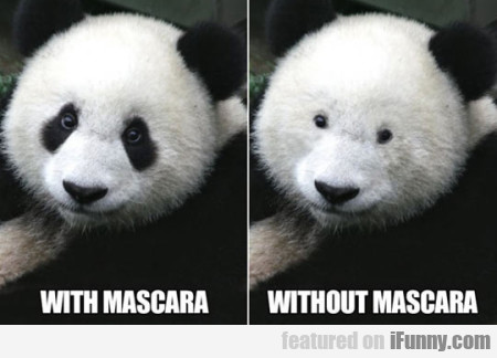 With Mascara And Without Mascara