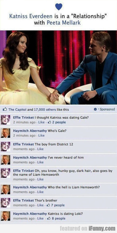 "Katniss Everdeen Is In A ""relationship"""
