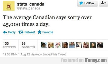 The Average Canadian Says Sorry