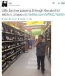 Little Brother Passing Through The Alcohol