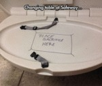Changing Table At Safeway...