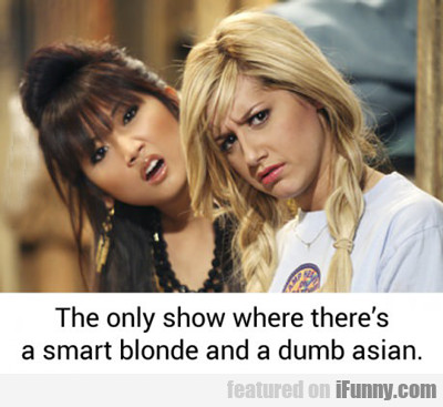 The Only Show Where There Is A Smart Blonde...