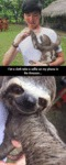 I Let A Sloth Take A Selfie...