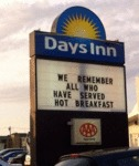 Days Inn. We Remember All Who Have Served