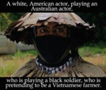 A White, American Actor Playing...