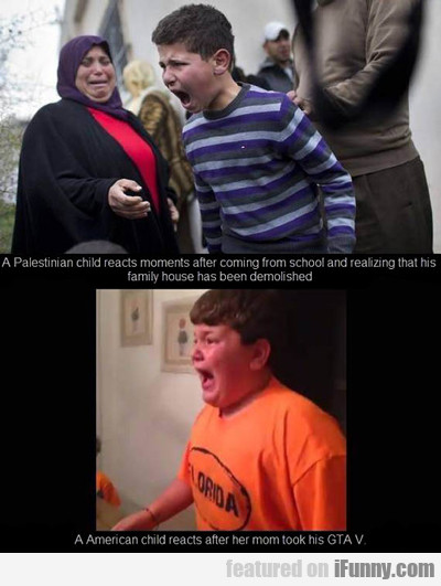 A Palestinian Child Reacts...