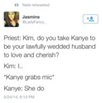 Priest: Kim, Do You Take Kanye To Be Your
