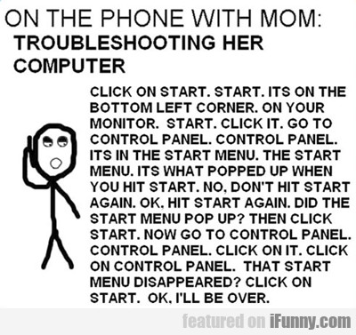 On The Phone With Mom...