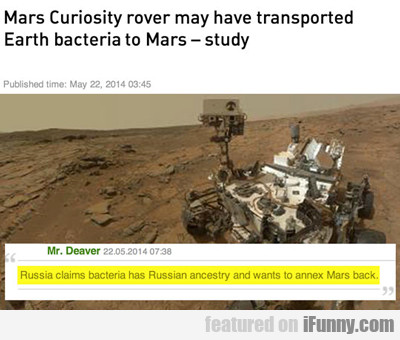 Mars Curiosity Rover May Have...